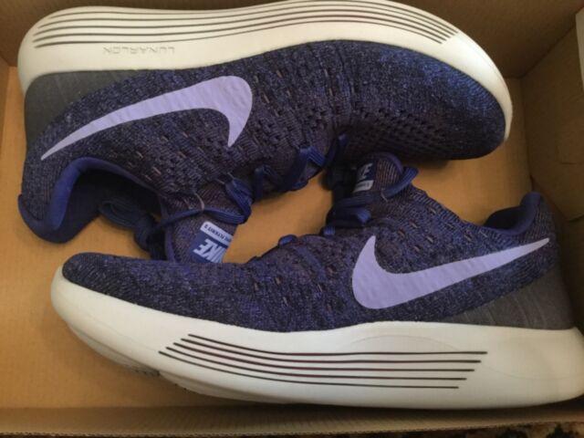8d3aa644aa4 Womens Nike Lunarepic Low Flyknit 2 Dark Raisin Running Shoes Sz 8 ...