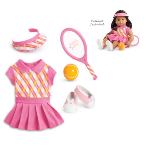 "American Girl BT BITTY TWIN TENNIS PRO OUTFIT for 15/"" Baby Dolls Ball Sport NEW"
