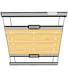 PLISSEE-MDB-034-Corrida-034-Sichtschutz-Sonnenschutz-Heim-amp-Haus-Renolux-Dachfenster