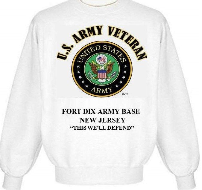 FORT DIX ARMY BASE NEW JERSEY  ARMY EMBLEM SWEATSHIRT