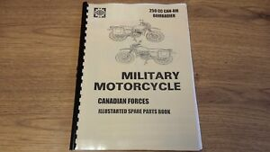 Can Am 250cc Bombardier Canadian Edn Military Motorcycle Parts Manual Can08 Ebay