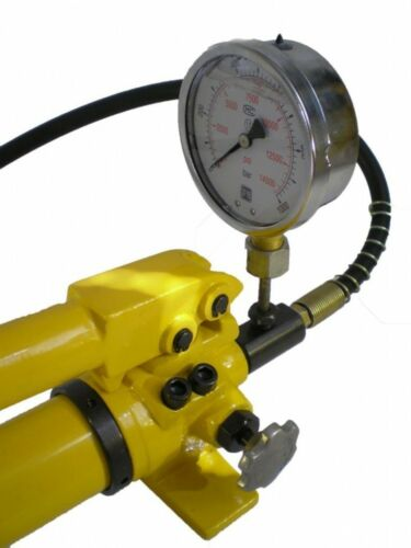 Pompe à main hydraulique manuelle avec manomètre 700bar 700ccm 2 étape