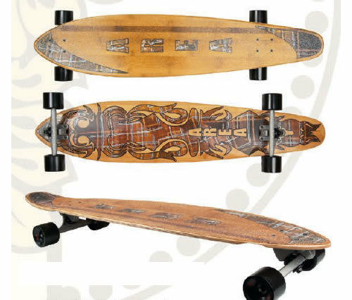 Longboard S  S board My Area Model Bamboo Mounted   fast shipping and best service