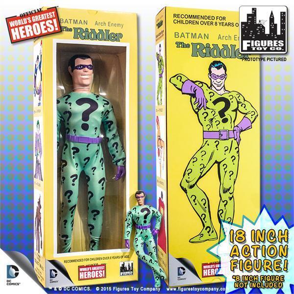 Dc comics, riddler, retro - mego 18 - zoll - action - figur, die misb zahlen.