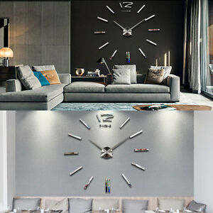 Art-3D-DIY-Horloge-Mural-Pendule-Montre-Clock-Mirroir-Sticker-Decoration-Maison