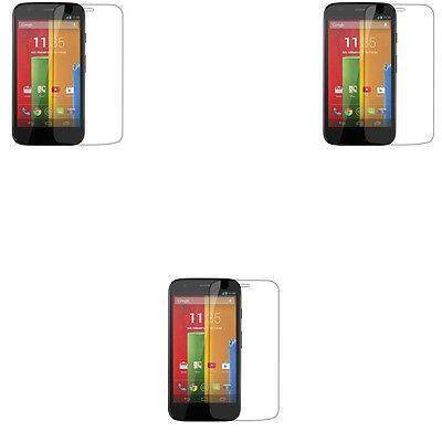 3 X Clear Screen Protector Guard Film For Motorola Moto G 2013