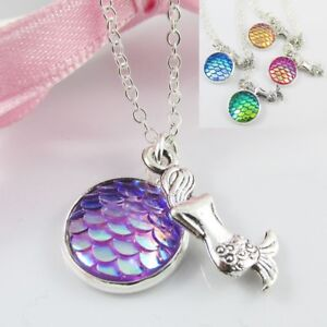 H2O-Just-Add-Water-Inspired-Mermaid-Charm-Pendant-Necklace-40cm-Select-Colour