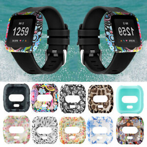 Band-Full-Coverage-For-Fitbit-Versa-Silicone-Case-Watch-Frame-Screen-Cover