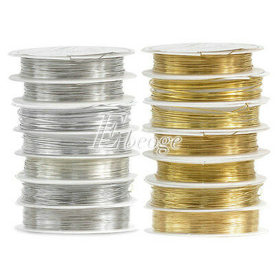 1 Roll DIY 0.3mm-1mm Silver Gold Jewelry Craft Beading Copper Wire Charm Finding