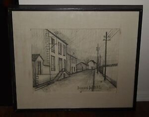 Super Details About Vintage Street Scene Etching Original Print Wall Picture By Bernard Buffet 52 Download Free Architecture Designs Lectubocepmadebymaigaardcom
