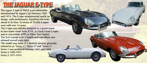 JAGUAR E-TYPE CLASSIC CAR MUG LIMITED EDITION NEW