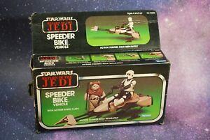 BOX-ONLY-Vintage-Star-Wars-Speeder-Bike-Vehicle-Return-of-the-Jedi-Kenner