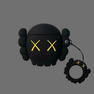 online store 3e15d d115d Details about New KAWS AirPods Case nike supreme jordan bred adidas off  white BFF FACE BLK USA