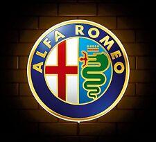 ALFA ROMEO BADGE SIGN LED Luce Scatola Man Grotta Garage Officina SALA GIOCHI BAMBINO REGALO
