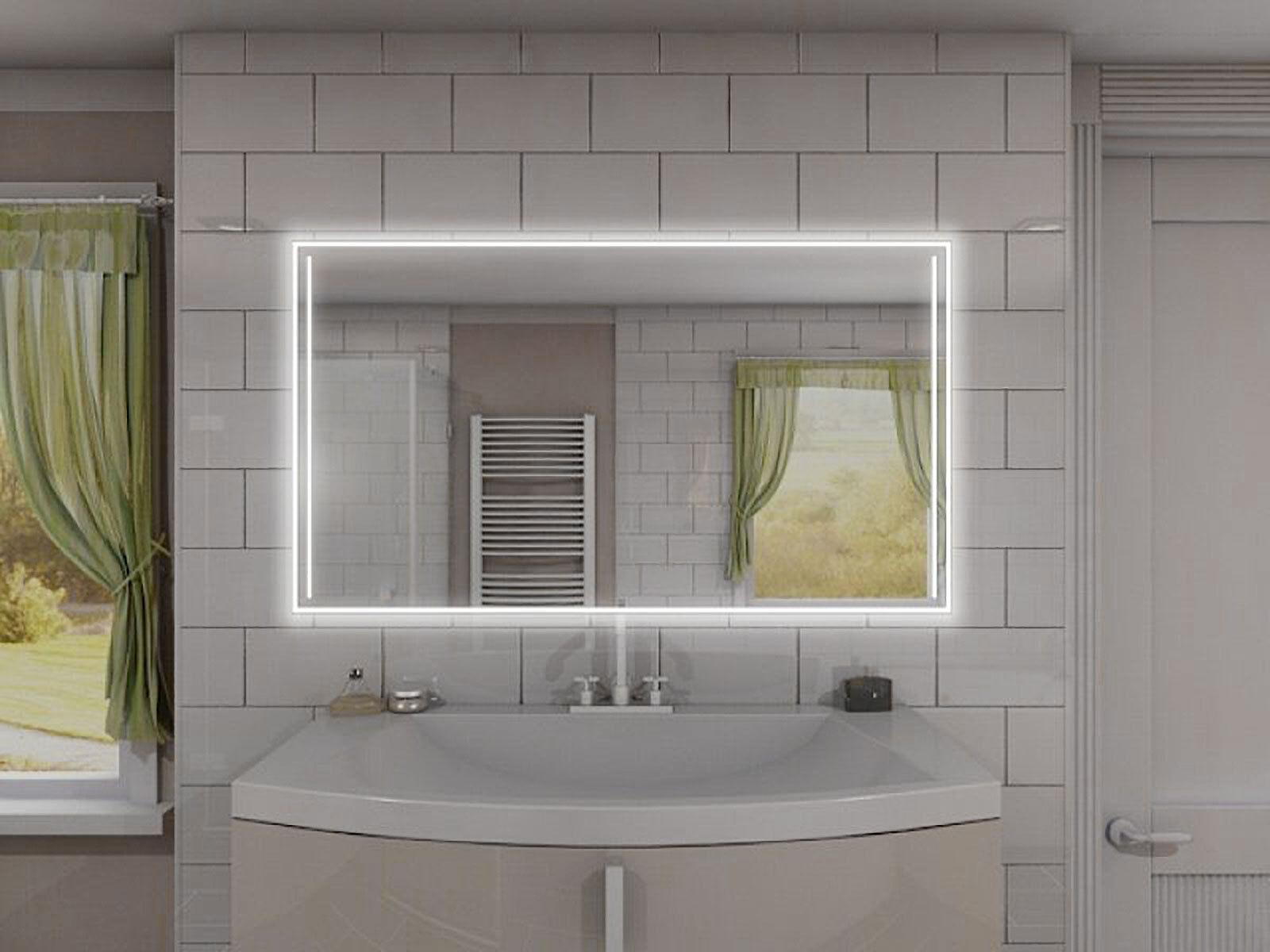 Badspiegel Badezimmerspiegel Bad Spiegel LED beleuchtet rundherum ■■■ M501L4