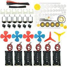 6 Set Dc Motor Hobby Electric Motors Small Mini Diy 15v 3v Batteries 24000rpm