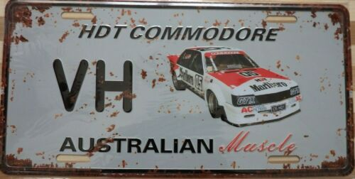 HDT COMMODORE VH Metal Signs Australian Muscle Cars MAN CAVE SHED BAR