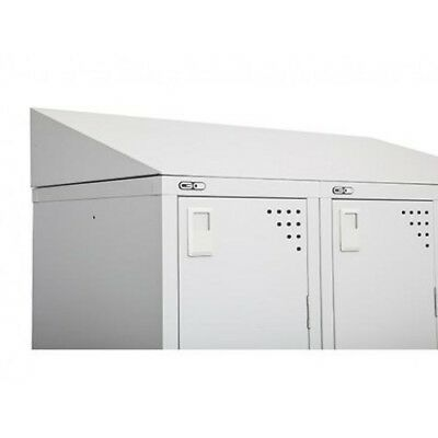 30 Degree Sloping Top For Single Locker Grey Only Strengthening Sinews And Bones Go Locker Sloping Top G12830 Office Furniture