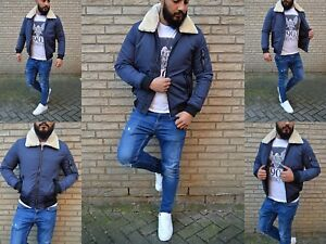 Men S Fur Ghetto Winter Security Bomber Jacket Aviator Jacket Street