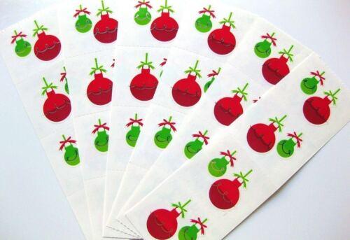 BULK LOT 6 Strips ~ Jazzy Ornaments Bauble Christmas Mrs Grossman Stickers ~