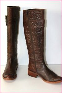 REQINS-Bottes-Cuir-Fripe-Marron-Doublees-Cuir-T-40-BE