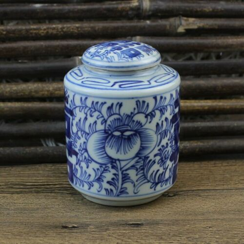Chinese old porcelain Blue and white porcelain  jar
