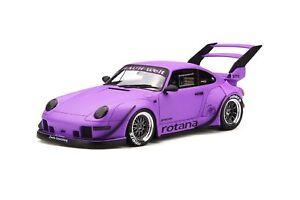 1/18 Gt Spirit Porsche 911 993 Rateaux Carrosserie Rotana En Mat Pourpre Gt737