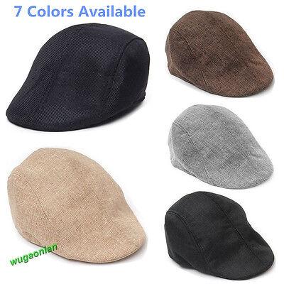 Golf Flat Newsboy Unisex Herringbone Duckbill Ivy Hat Classic Wool Gatsby Cap