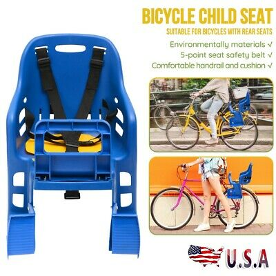 Bicycle Chair Child Kids Back Baby Seat Bike Carrier With Handrail 25kg Carrier