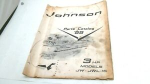 Details about USED 1959 JOHNSON EVINRUDE OMC 377-804 3 HP JW-15 JWL-15  OUTBOARD PARTS CATALOG