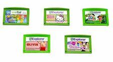 Lot of 5 LeapFrog Explorer LeapPad Games Girls(Olivia,Kitty,Dora,Pencil,Minnie)