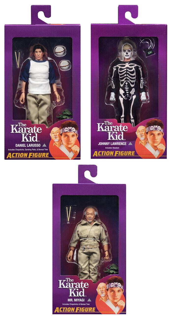 NECA el Karate Kid Set LaRusso Lawrence Miyagi 8  vestidos Figura De Acción Nueva
