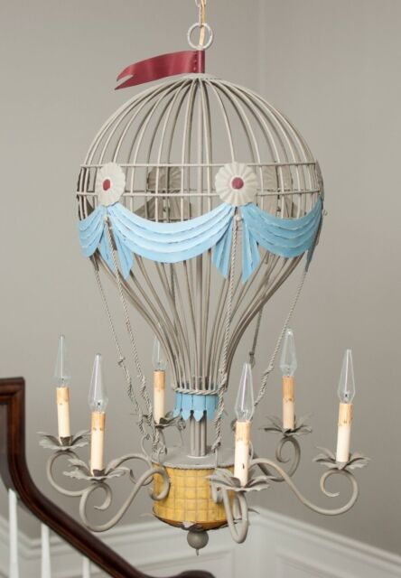 Unique Hot Air Balloon 6 Light Chandelier By Currey