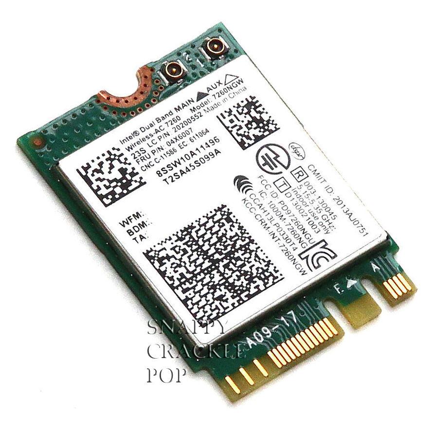 Lenovo Thinkpad T440s Intel Dual Band Wireless AC N Bluetooth 4.0 Card 7260NGW