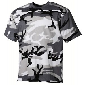 US-Army-Style-T-Shirt-urban-camo-Tarn-Rundhals-schwere-Ausfuehrung-Neu