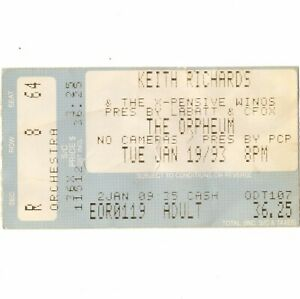 KEITH-RICHARDS-Concert-Ticket-Stub-BOSTON-1-19-93-ORPHEUM-ROLLING-STONES-Rare