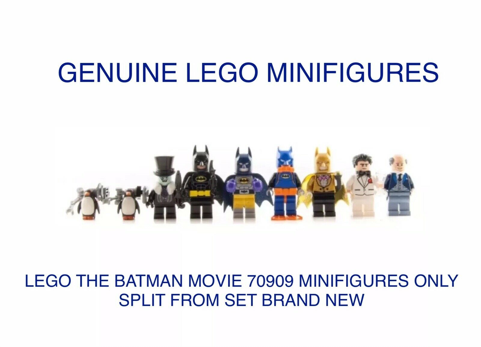 LEGO THE BATMAN MOVIE 70909 MINIFIGURES & PENGUINS ONLY, FROM THE SET. NEW.