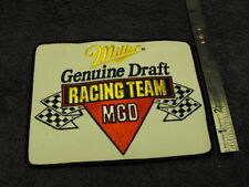 Miller Genuine Draft MGD Racing Team ,Large  Cloth Patch