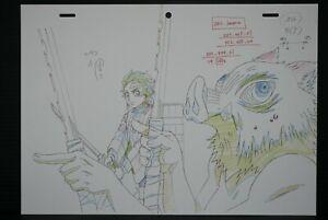 "JAPAN TV Animation Demon Slayer Kimetsu no Yaiba ""Tanjiro,Inosuke"" Fukusei Genga"