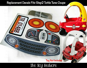 Toy Restore Replacement Stickers fits Step2 Toddle Tune Coupe Ride-On Car Decals