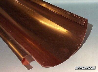Dachrinne Kupfer Längen 3m Regenrinne, Größen nach Auswahl, Berechnungsservice