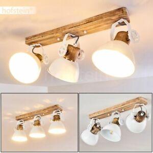 Vintage Wohn Schlaf Zimmer Leuchten Flur Dielen Strahler Holz//weiß Wand Lampen