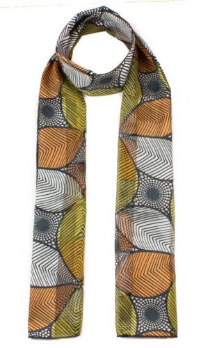 Satin soyeux à rayures imprimé floral foulard multicolore KALÉIDOSCOPE DESIGN écharpes
