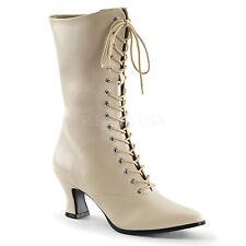 "Ladies Victorian Boot Granny Boot 2.75"" Heel w Zipper Womens Victorian Shoes 120"