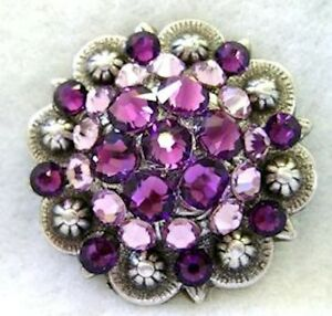 Berry Concho ~ Handcrafted with Light and Dark Purple Swarovski Elements