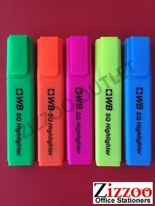HIGHLIGHTER-MARKER-PENS-VARIOUS-COLOURS-AND-QUANTITIES-AND-WITH-FREE-POSTAGE