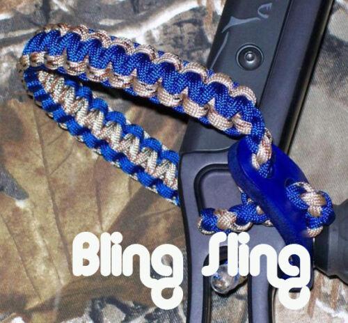 Electric Blue /& desert Camo Bling Sling archery strap FREE SHIP Mathews pse