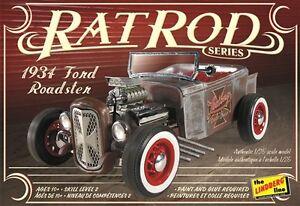Lindberg-1934-Ford-Roadster-Rat-Rod-1-25-model-car-kit-new-122
