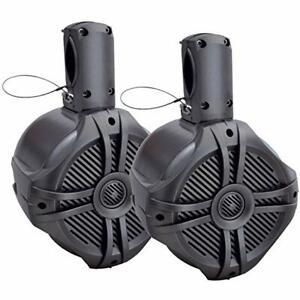 Power-Acoustik-MWT-65T-500-Watt-Marine-Titanium-6-5-034-Wake-Tower-Speakers-6-1-2-034