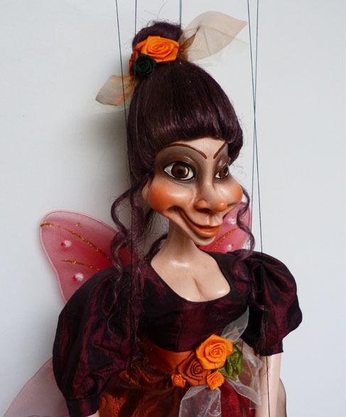 Äkta marionett, 22 tum lång, handgjord av TJECKISKA REPUBLIKEN